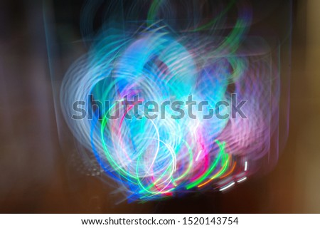 Creating an abstract view with LED light equipment. #1520143754