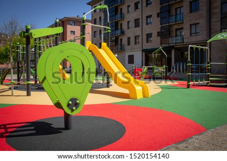 Playground in a city 2 Royalty-Free Stock Photo #1520154140