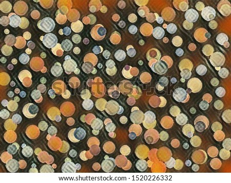 multicolored abstractions, circles, lines and leaves, background, pattern. #1520226332