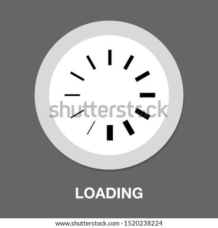 vector loading progress - computer graphic symbol isolated #1520238224