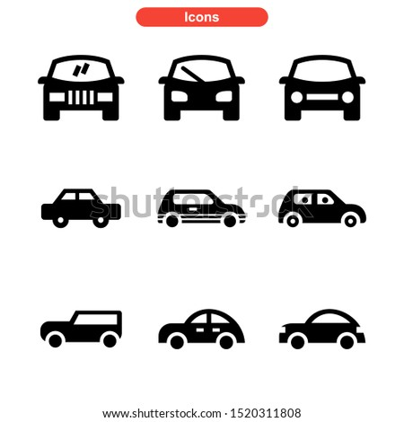 car icon isolated sign symbol vector illustration - Collection of high quality black style vector icons  #1520311808
