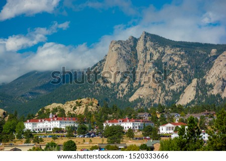 The Stanley Hotel in Estes Park, Colorado on a sunny day. #1520333666