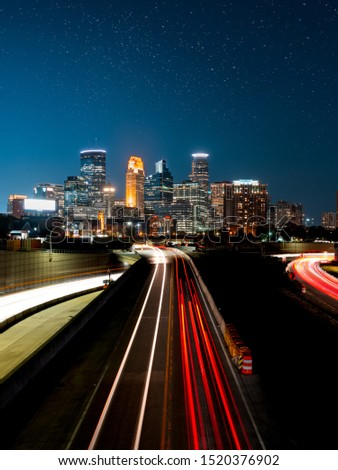 Car lights in the big city