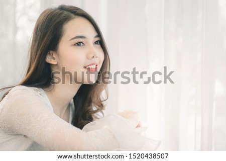 Portrait of attractive asian woman with beauty skin, hair and face. Healthy skin and face care concept. #1520438507