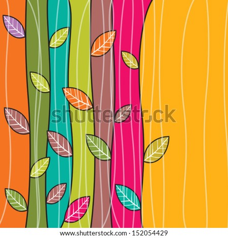 Vector autumn leaves background #152054429