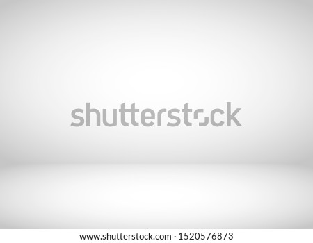 Abstract grey background. Empty room with spotlight effect. Vector illustration. Royalty-Free Stock Photo #1520576873