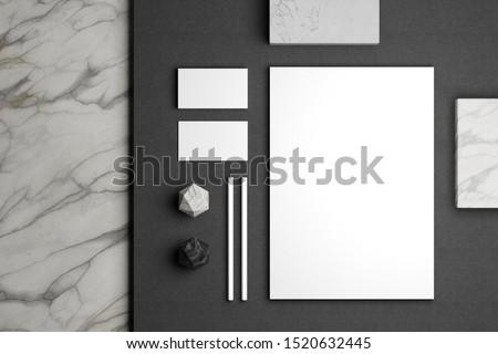 Minimal stationery mockup for your brand identity design Royalty-Free Stock Photo #1520632445