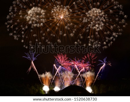 International fireworks show and festival, firewroks festival, colorful explosion.  #1520638730