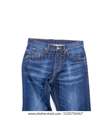 jean or blue jeans with concept on white background new #1520736467