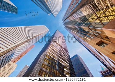 Scenic Toronto financial district skyline and modern architecture #1520772191