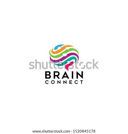 Brain technology logo template, brain connection logo vector icon. digital brain. brain hub logo design. Digital abstract logos for creative innovation. #1520845178