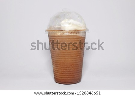 A picture of streets frappe mocha on isolated white background. #1520846651