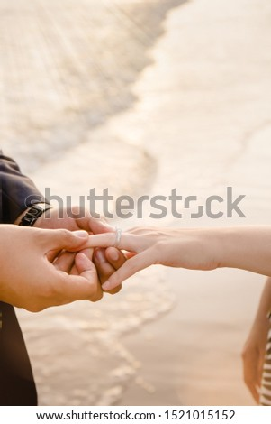 Will you marry me , lover ring , say yes wedding on the beach  married on the beach ,romantic background #1521015152