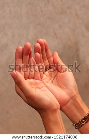 woman praying hand with studio lighting #1521174008