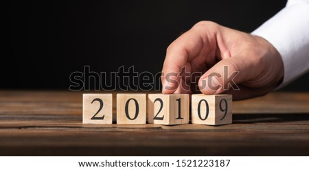 2019 to 2020, New Year Business Concept with Wooden Blocks #1521223187