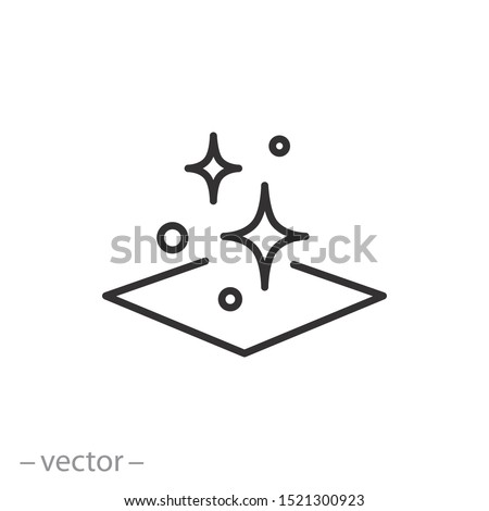 clean surface icon, easy cleaning, thin line symbol on white background - editable stroke vector illustration eps 10 #1521300923