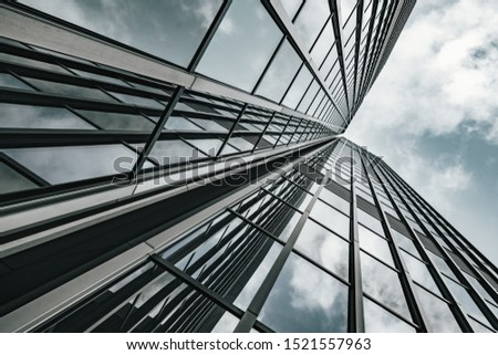 low angle view of skyscrapers. modern building #1521557963