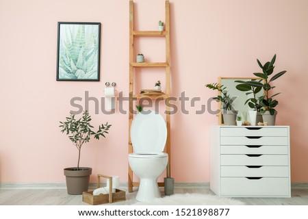 Interior of modern comfortable restroom #1521898877
