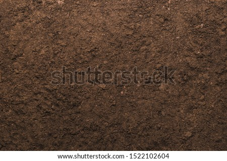 Soil texture background for gardening concept Royalty-Free Stock Photo #1522102604