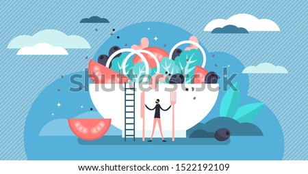 Catering vector illustration. Flat tiny food industry work persons concept. Restaurant, cafe and other gourmet eatery profession occupation. Culinary gastronomy company serving buffet or banquet dish. Royalty-Free Stock Photo #1522192109