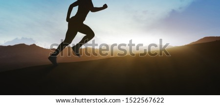 girl running on top of the mountain #1522567622