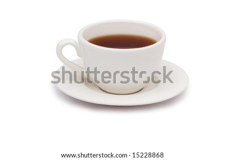 Cup of tea isolated on the white background #15228868