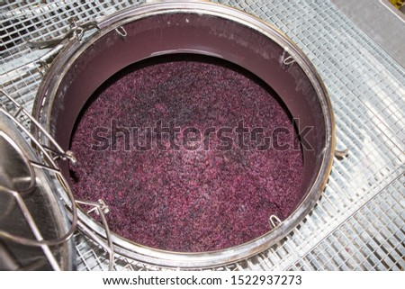 winemaking vats for fermenting grapes and producing wine at the winery #1522937273