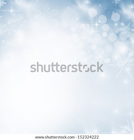 abstract Christmas background with white snowflakes