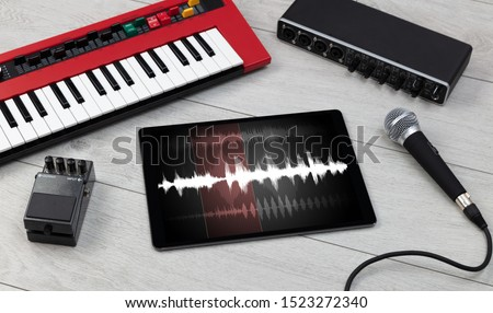 Recording music with tablet and electronic music instruments #1523272340