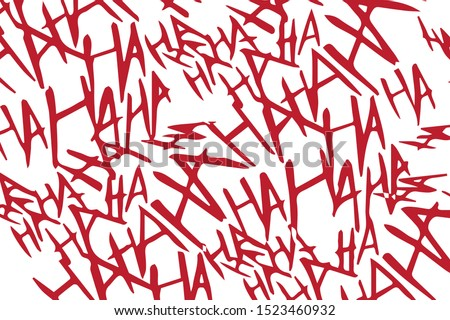 Joker Laughing Scary Evil Background on White Vector