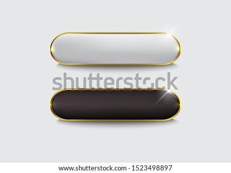 Button set web glossy black Gold Royalty-Free Stock Photo #1523498897