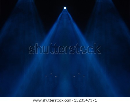scene, stage light with colored spotlights and smoke  #1523547371