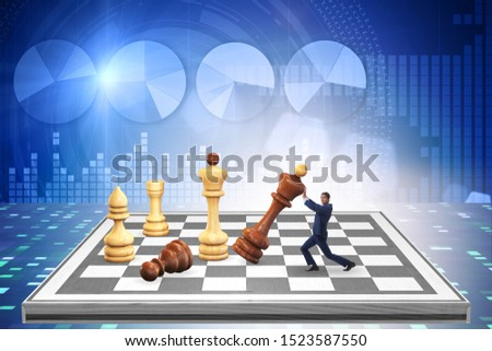 Strategy and tactics concept with businessman #1523587550