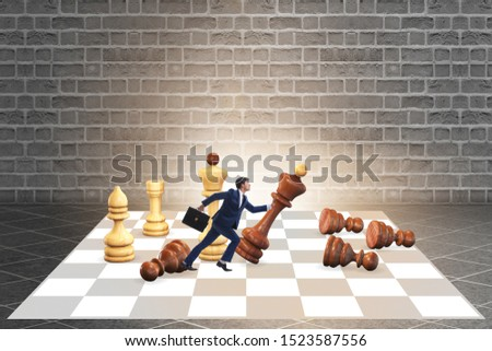 Strategy and tactics concept with businessman #1523587556
