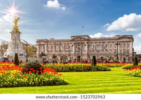 Buckingham Palace in London, United Kingdom. Royalty-Free Stock Photo #1523702963