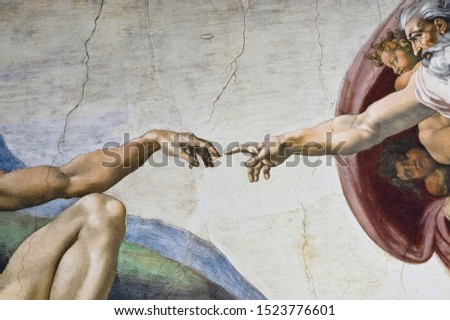 Rome Italy March 08 creation of Adam by Michelangelo #1523776601