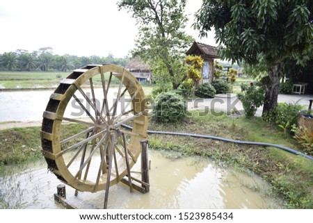 Water diversion tools for water diversion into rice fields #1523985434