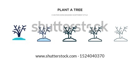 plant a tree icon in different style vector illustration. two colored and black plant a tree vector icons designed in filled, outline, line and stroke style can be used for web, mobile, ui #1524040370