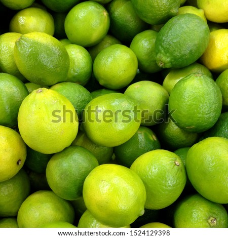 Macro Photo food citrus fruit lime. Texture pattern juicy green tropical lime fruit. Image green limes #1524129398
