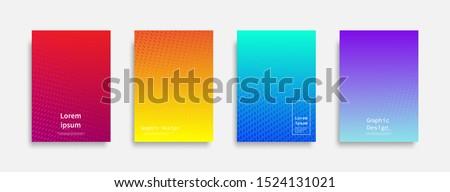 Minimal covers design. Halftone dots colorful design. Future geometric patterns. Eps10 vector. #1524131021