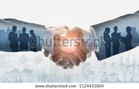 Business communication concept. Marketing. Shaking hands. Teamwork. #1524433004