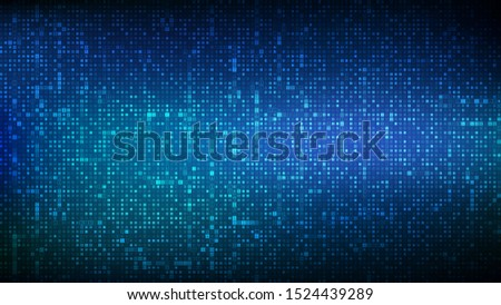 Binary code background. Digital binary data and streaming digital code background. Abstract futuristic cyberspace. Matrix background with digits 1.0. Coding or Hacker concept. Vector illustration.