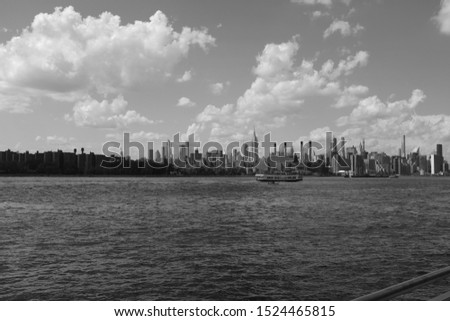 View of NYC from Domino Park  #1524465815