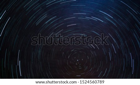 North star star trail on dark sky #1524560789