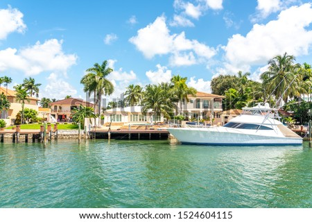 Luxurious house in Miami Beach, Florida, USA Royalty-Free Stock Photo #1524604115
