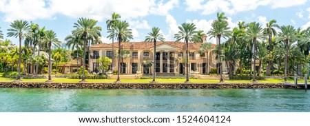 Luxurious mansion in Miami Beach, florida, USA Royalty-Free Stock Photo #1524604124
