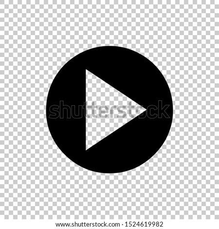 icon play circle button design vector flat  #1524619982