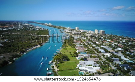Jupiter Florida Aerial North View