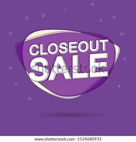 Closeout Sale tag, bubble banner design template, app icon, vector illustration #1524680933