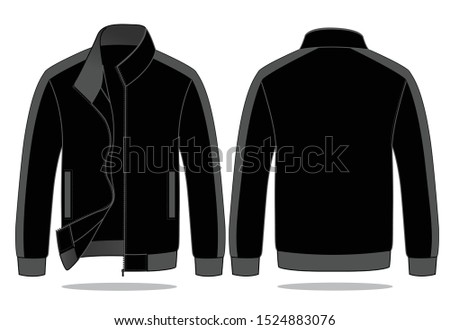 Warm-Up Jacket Design Vector  (Black / Gray) #1524883076